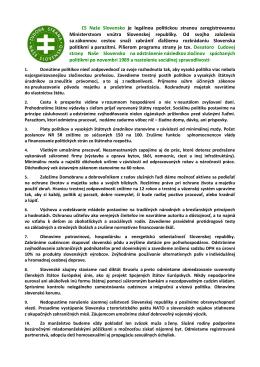 Desatoro Ľudovej strany Naše Slovensko
