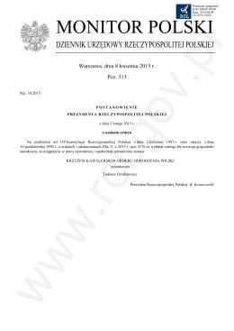 Pozycja 313 Post. - Rej.38-2015