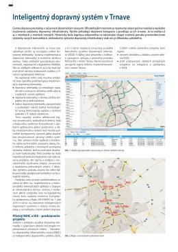 Inteligentný dopravný systém v Trnave