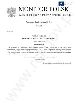 Pozycja 318 Post. - Rej. 53-2015