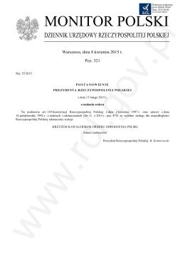 Pozycja 321 Post - Rej. 55-2015