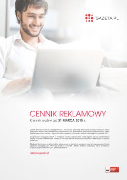 CENNIK REKLAMOWY - Reklama Gazeta.pl