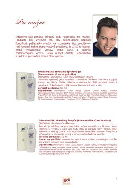 Spa kozmetika pre mužov