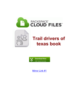 Trail drivers of texas book