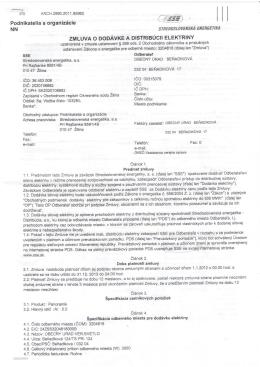 Zmluva o dodávke a distribúcii elektriny_verejné osvetlenie