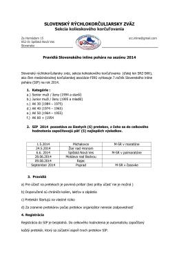 Propozície Slovenského inline pohára 214