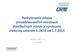 Údaje poskytované PMDS od 1.7.2013