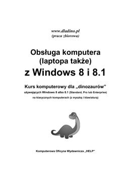 Obsługa komputera (laptopa też) z Windows 8 i