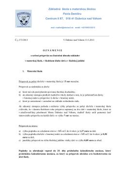 priloženom dokumente - ZŠ s MŠ Pavla Demitru