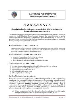 Uznesenie VČS 2015