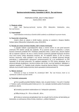 """Propozície súťaže """"Malý futbal žiakov"""" pre sezónu 2014/2015"""