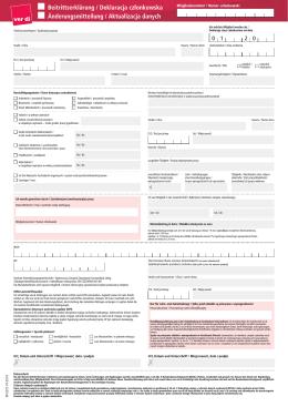 Beitrittserklärung / Deklaracja członkowska