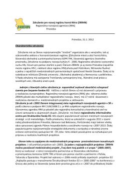 stiahnuť PDF - Združenie pre rozvoj regiónu horná Nitra