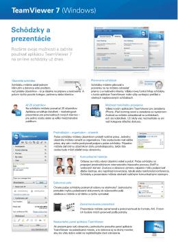 Schôdzky a prezentácie TeamViewer 7 (Windows)