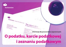 O podatku, karcie podatkowej i zeznaniu podatkowym