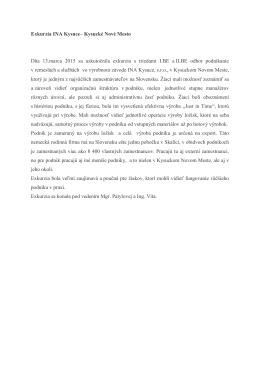 Správa zo služobnej cesty HOPI – Senec a HOPI – Madunice