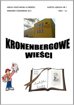 Gazetka szkolna nr1 - Szkoła Podstawowa im.L.J.Kronenberga w