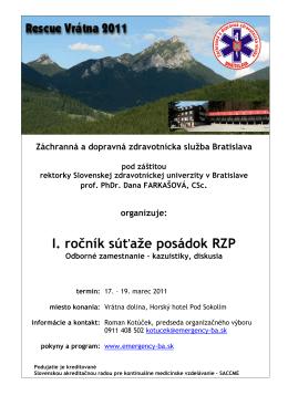 sa nachádza tu. - Záchranná zdravotná služba Bratislava