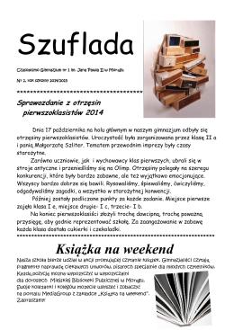 Książka na weekend - Gimnazjum nr 1 w Morągu