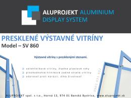 PRESKLENÉ VÝSTAVNÉ VITRÍNY Model – SV 860