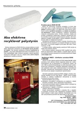 Ako efektívne recyklovať polystyrén