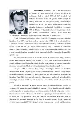 Rudolf Božík sa narodil 10. júla 1920 v
