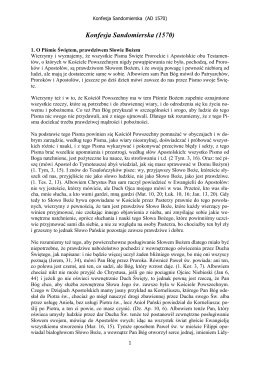 Konfesja Sandomierska (1570)