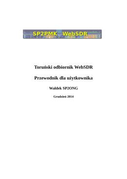 Toruński odbiornik WebSDR Przewodnik dla użytkownika