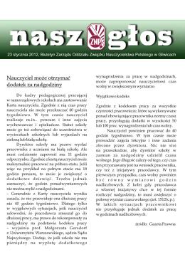 23.01.2012 - Związek Nauczycielstwa Polskiego