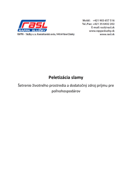 Peletizácia slamy - projekt