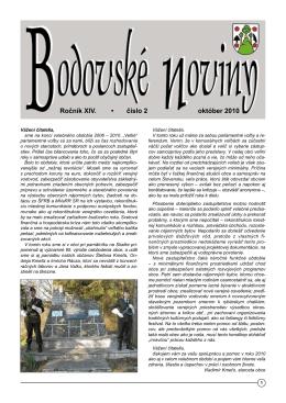 Ročník XIV. • číslo 2 október 2010 - Krivosúd