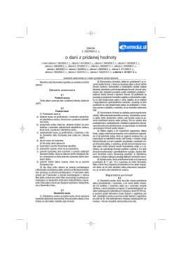 Zákon č. 222/2004 Z.z. o dani z pridanej hodnoty