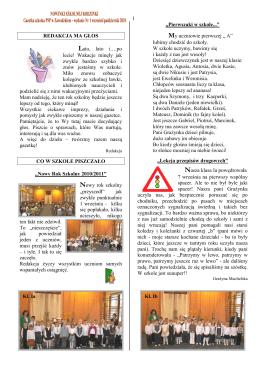Nowinki Szkolnej Rodzinki Nr 1 wrzesień/październik 2010