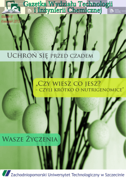 Gazetka WTiICh - Numer 6, kwiecień 2012
