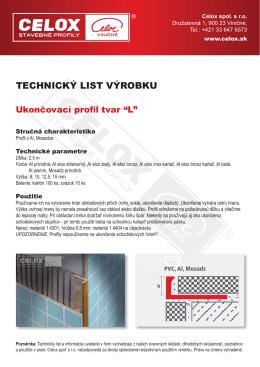 Technický LiST výrobkU