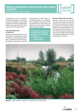 5. Metody zwiększania retencji wody deszczowej