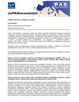 Profil a rozhovor o európskom semestri