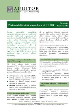 Aktuality 2012 - ecoplus International SK