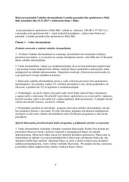 Rokovací poriadok Valného zhromaždenia Lesného