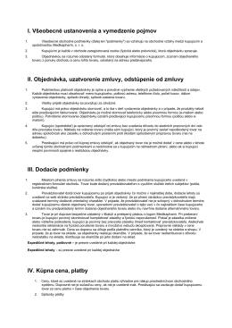 Všeobecné obchodné podmienky / Reklamačný poriadok