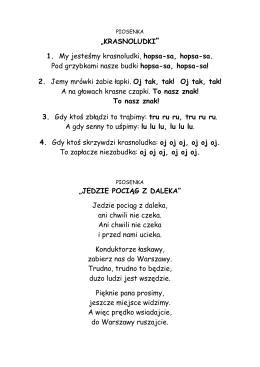 Piosenki i wierszyki dla przedszkolaków