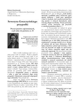 Seweryna Goszczyńskiego przypadki