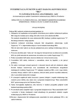 Wytyczne dotyczące badania BK