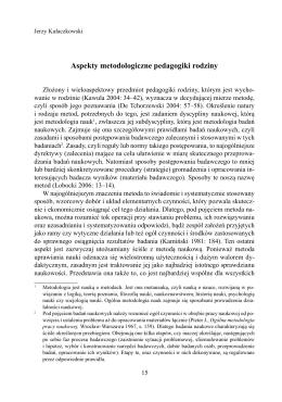 Aspekty metodologiczne pedagogiki rodziny