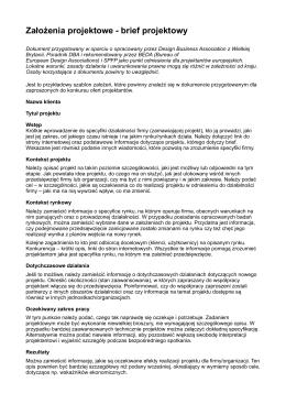 Założenia projektowe - brief-1