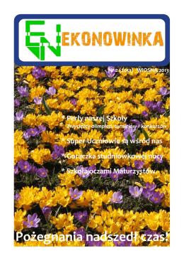 ekonowinka wiosna 2013 - Zespół Szkół Ekonomicznych nr 1 w