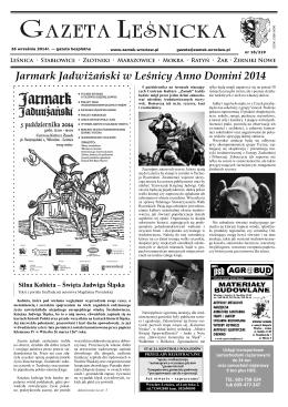 Gazeta Leśnicka, 25 września 2014