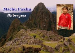 Piotr M. Małachowski. Machu Picchu dla Brayana
