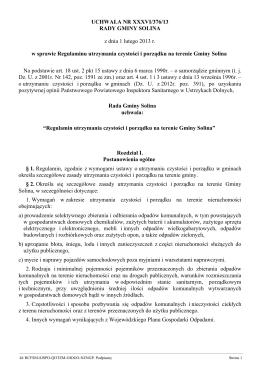 Uchwa a Nr XXXVI/376/13 z dnia 1 lutego 2013 r.