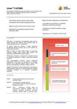Technický list Line™11FSM - 11 W/m pri 5 °C a príslušenstvo